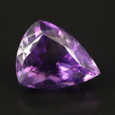 Loose 26.48 CT Trillion Faceted Amethyst