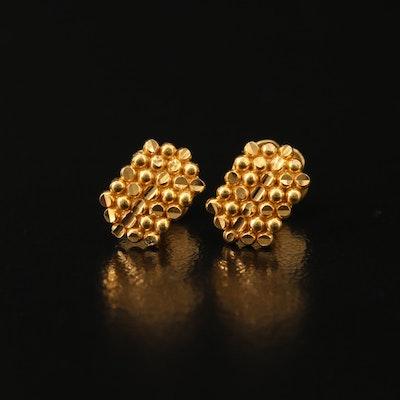 18K Granulated Earrings