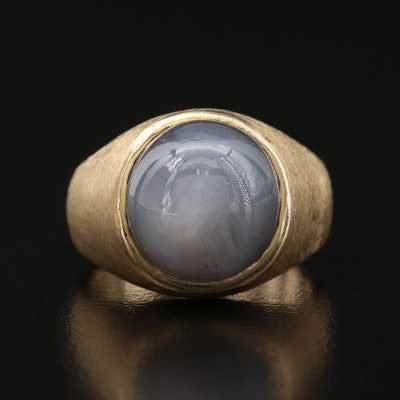 14K 12.96 CT Star Sapphire Ring