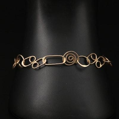 Geometric Wire Link Bracelet