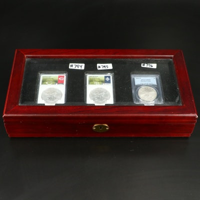 Set of Three Uncirculated U.S. Silver Coins