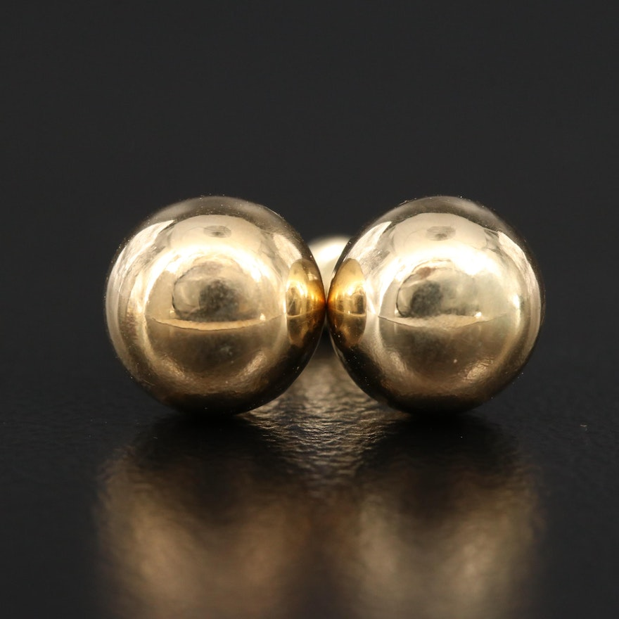 14K Sphere Stud Earrings