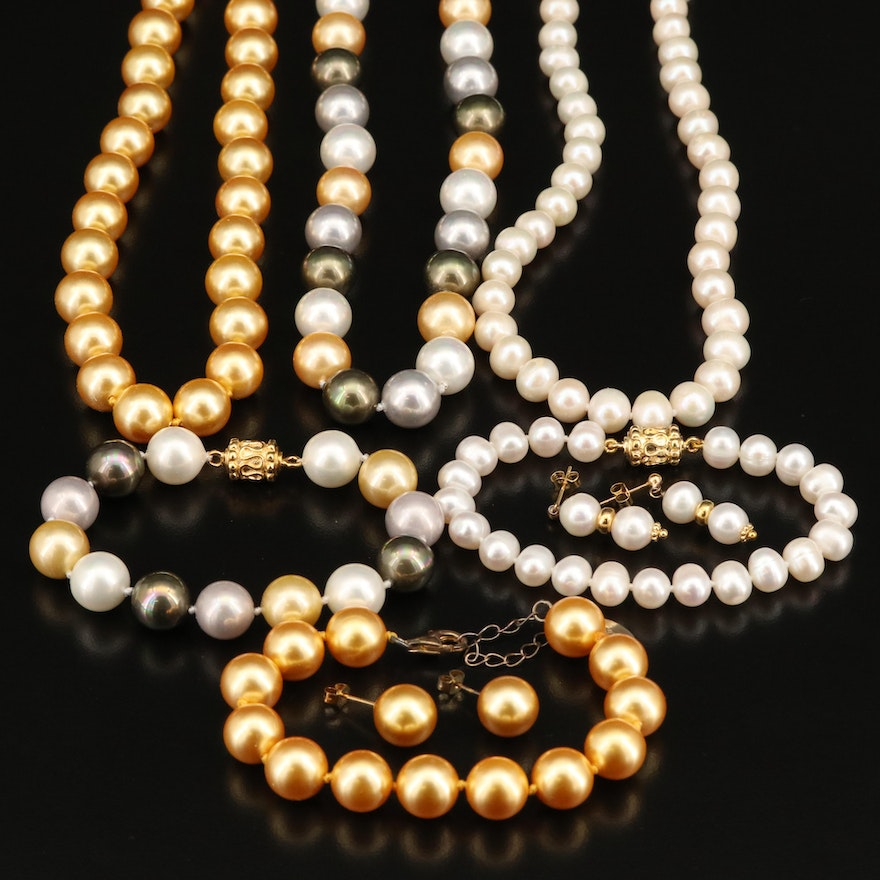 Stauer Sterling Pearl and Faux Pearl Jewelry Sets