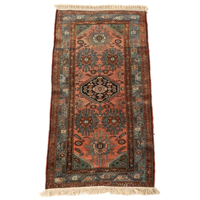 3'0 x 6'1 Hand-Knotted Persian Senneh Wool Area Rug