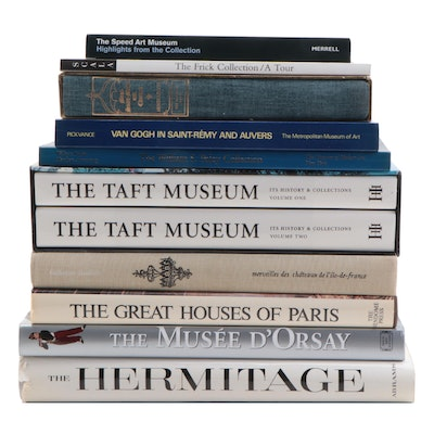 Art Reference Books Featuring American and French Art Museums