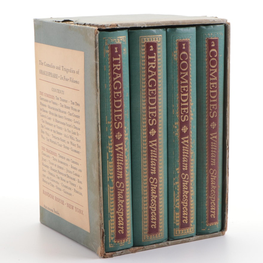 """The Comedies and Tragedies of Shakespeare"" Four-Volume Set, 1944"