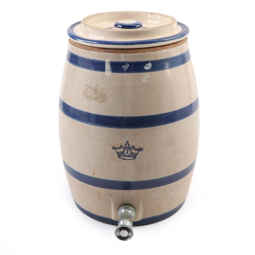 Robinson Ransbottom Two-Gallon Stoneware Water Dispenser