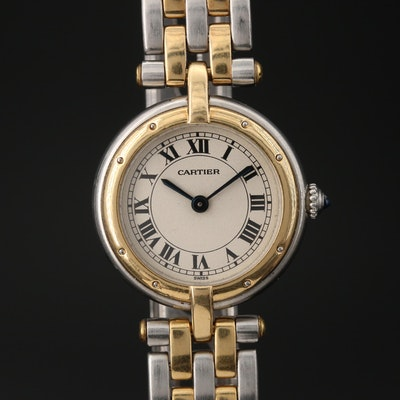 Cartier Panthere 18K and Stainless Steel Quartz Wristwatch