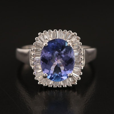EFFY 14K 2.48 CT Tanzanite and Diamond Ring