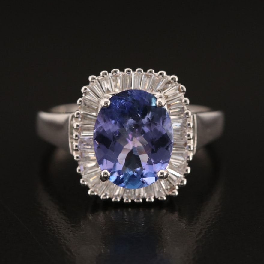 EFFY 14K 2.48 CT Tanzanite and Diamond Ring