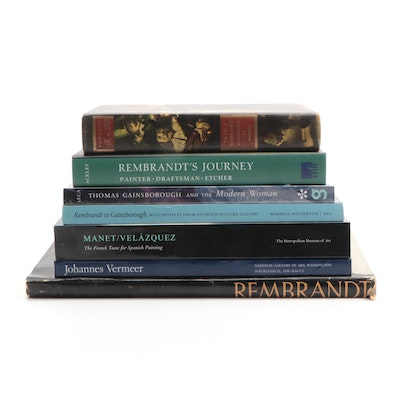 Art Reference Books Featuring Rembrandt, Gainsborough, and Velázquez