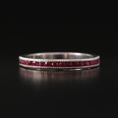 18K Channel Set Ruby Band