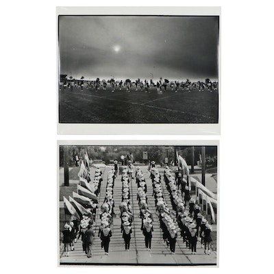 William D. Wade Silver Gelatin Prints of Marching Bands