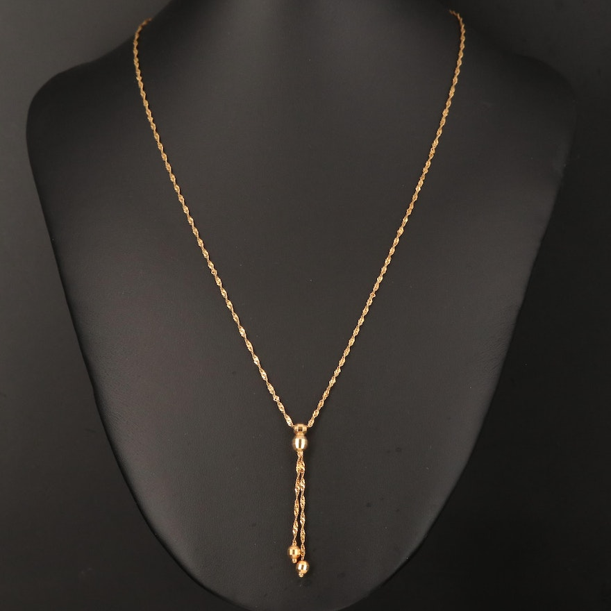 14K Singapore Link Negligee Necklace
