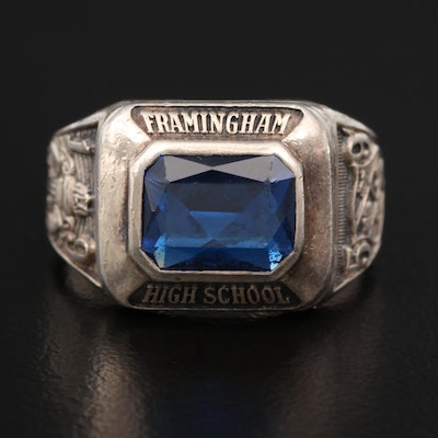 Sterling Silver Spinel 1959 High School Class Ring