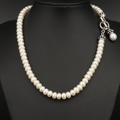 Honora Pearl Necklace with Sterling Silver Clasp