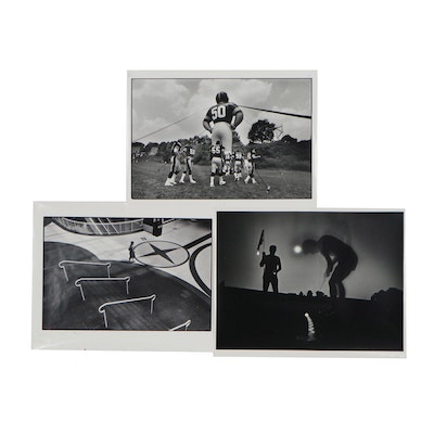 William D. Wade Silver Gelatin Prints of Figures Including Golfers