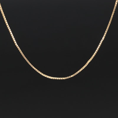18K Box Chain Necklace