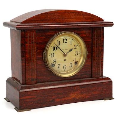 Seth Thomas Sonora Red Adamantine Mantel Clock, Early 20th Century