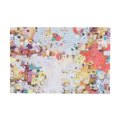 "Alexandra Zecevic Acrylic Painting ""Colorful Reflections,"" 2021"