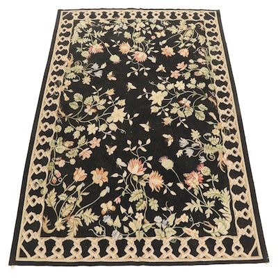 6' x 9'1 Handwoven Sino-French Aubusson Style Area Rug