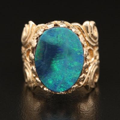 14K Opal Doublet Ring
