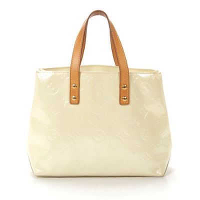 Louis Vuitton Reade PM Tote in Citrine Monogram Vernis