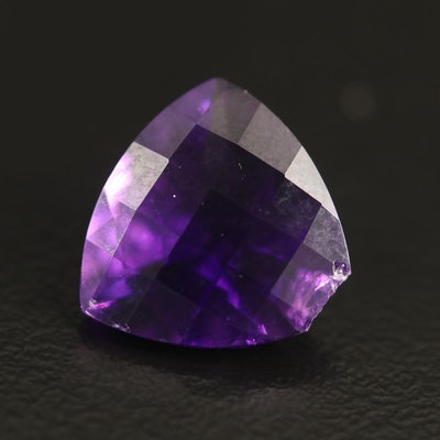 Loose 4.42 CT Trillion Faceted Amethyst