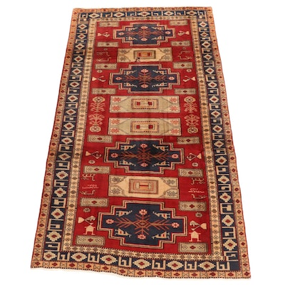 5' x 8'7 Hand-Knotted Persian Hamadan Wool Rug