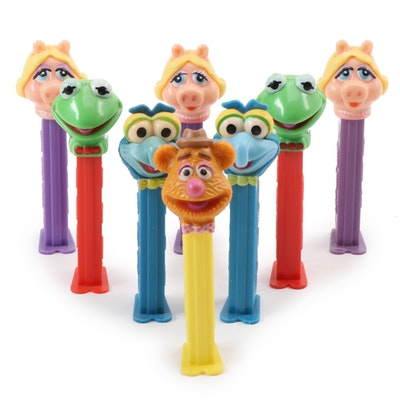 "PEZ ""Muppets"" Dispensers Including Kermit, Miss Piggy, Gonzo, and More"