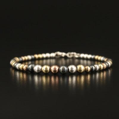 Sterling Silver Graduated Bead Bracelet