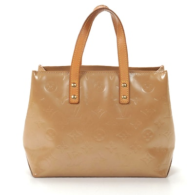 Louis Vuitton Reade PM Tote in Beige Monogram Vernis