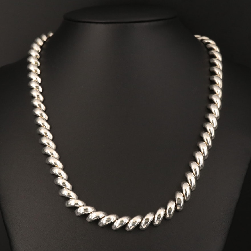 Sterling Silver San Marco Chain Necklace
