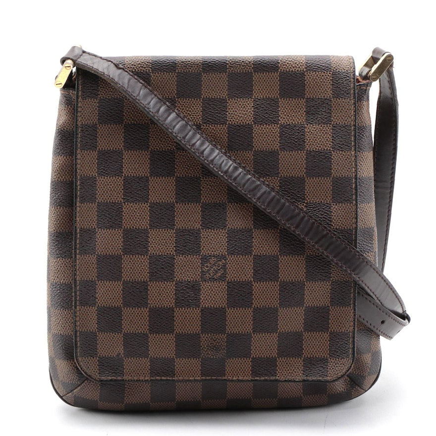 Louis Vuitton Musette Salsa Crossbody Bag in Damier Ebene Canvas