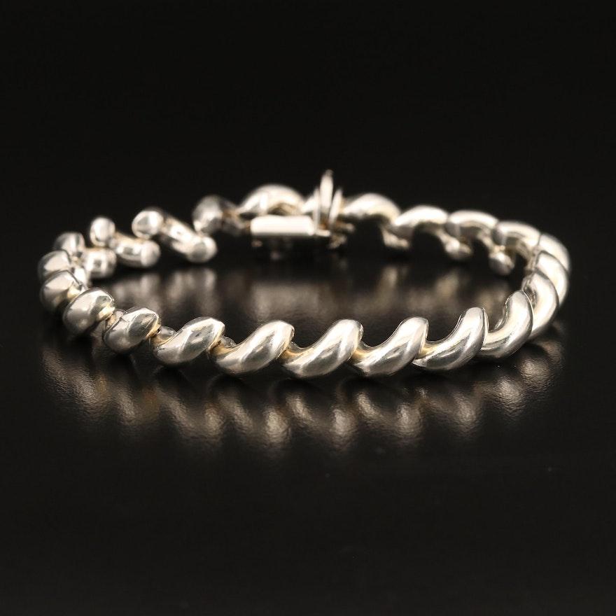 Sterling Silver San Marco Chain Bracelet