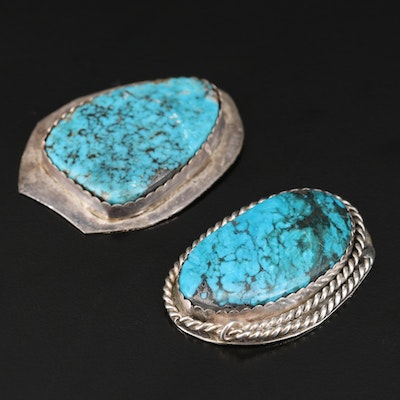 Southwestern Style Sterling Silver and Turquoise Jewelry Findings