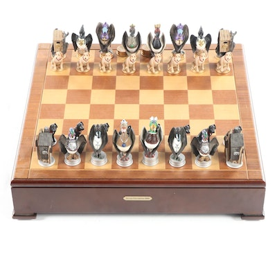 Limited Edition Ducks Unlimited Wood and Resin Chess Set, 2003