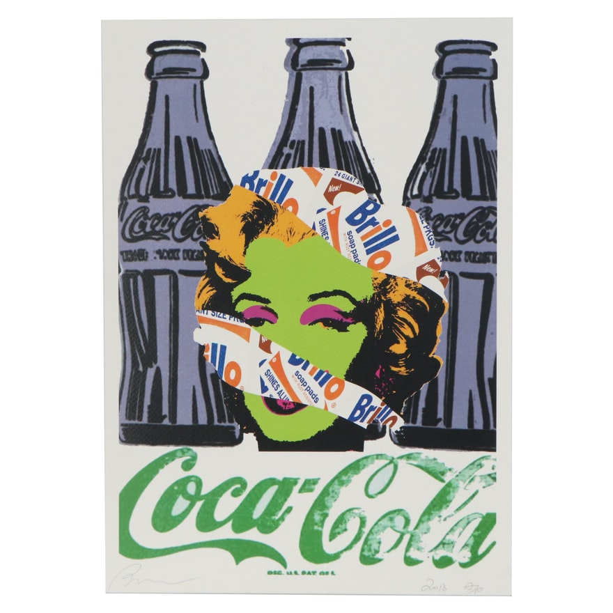 Death NYC Pop Art Offset Lithograph of Marilyn, 2013