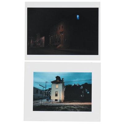 William D. Wade Inkjet Prints of Pittsburgh Urban Neighborhoods at Night