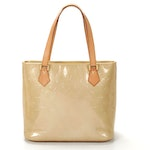 Louis Vuitton Houston Tote in Beige Monogram Vernis