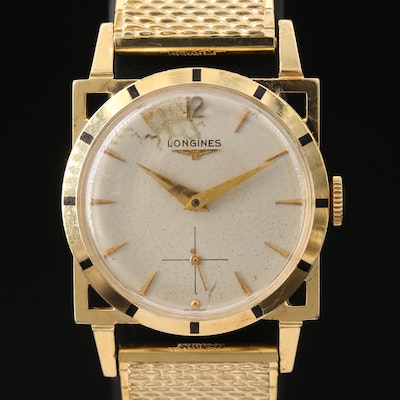 Longines 14K Gold Stem Wind Wristwatch
