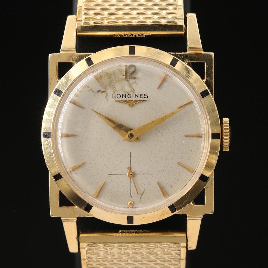 Longines 14K Gold Stem Wind Wristwatch