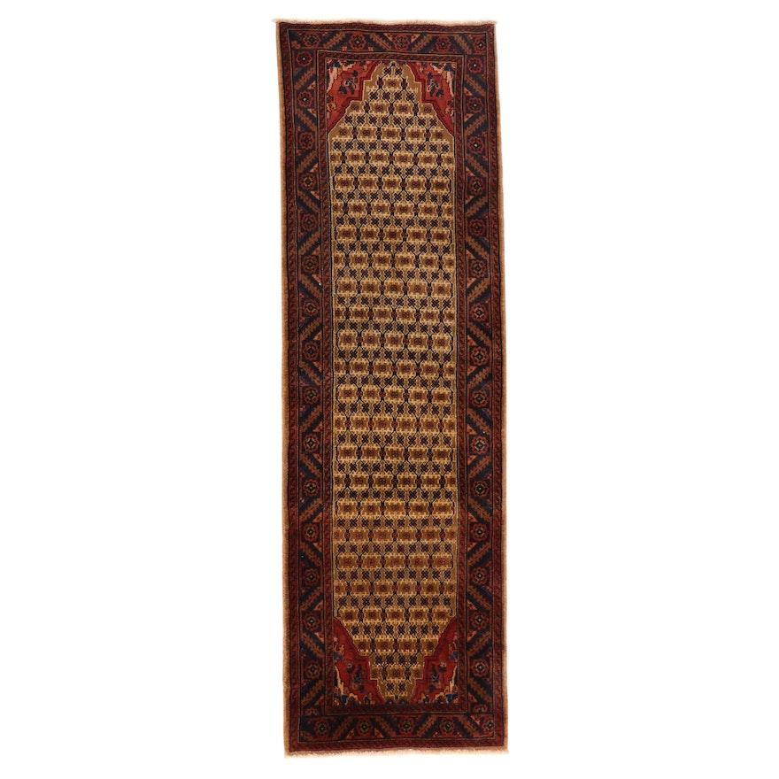 3'1 x 10' Hand-Knotted Persian Kurdish Kolyai Carpet Runner, 1970s