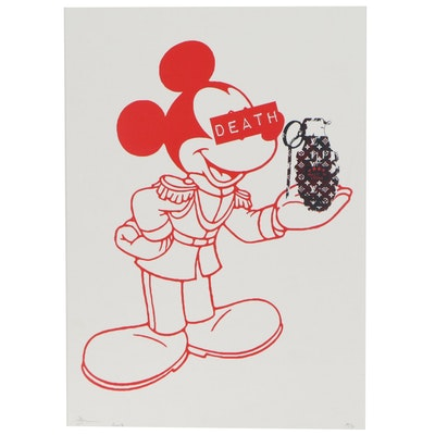 Death NYC Pop Art Offset Lithograph of Mickey with Grenade, 2019