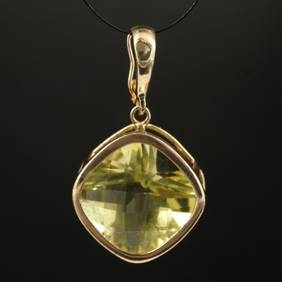 14K Citrine Enhancer Pendant