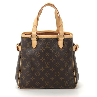 Louis Vuitton Batignolles Tote in Monogram Canvas and Vachetta Leather