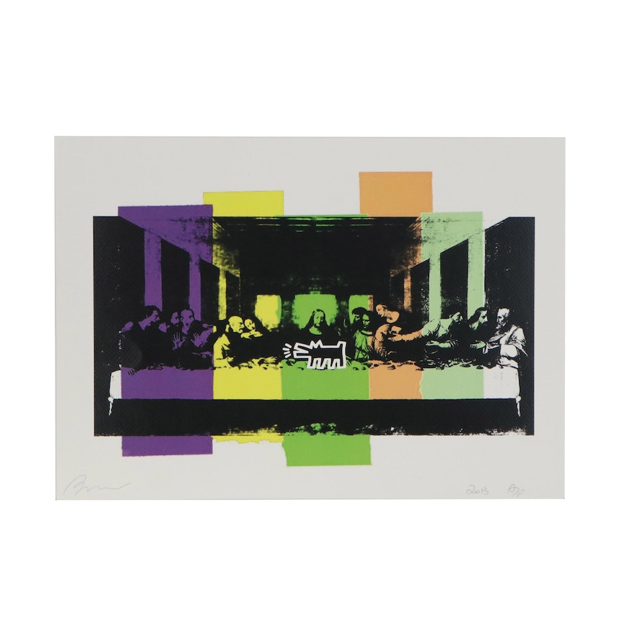 Death NYC Pop Art Offset Lithograph of the Last Supper Supreme, 2013
