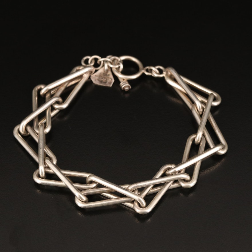 Mexican Sterling Fancy Link Bracelet
