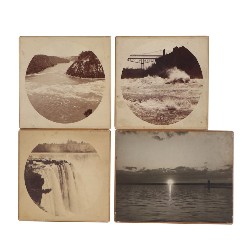C. H. Nielson Sepia-Toned Photo Cards and Silver Gelatin Photograph