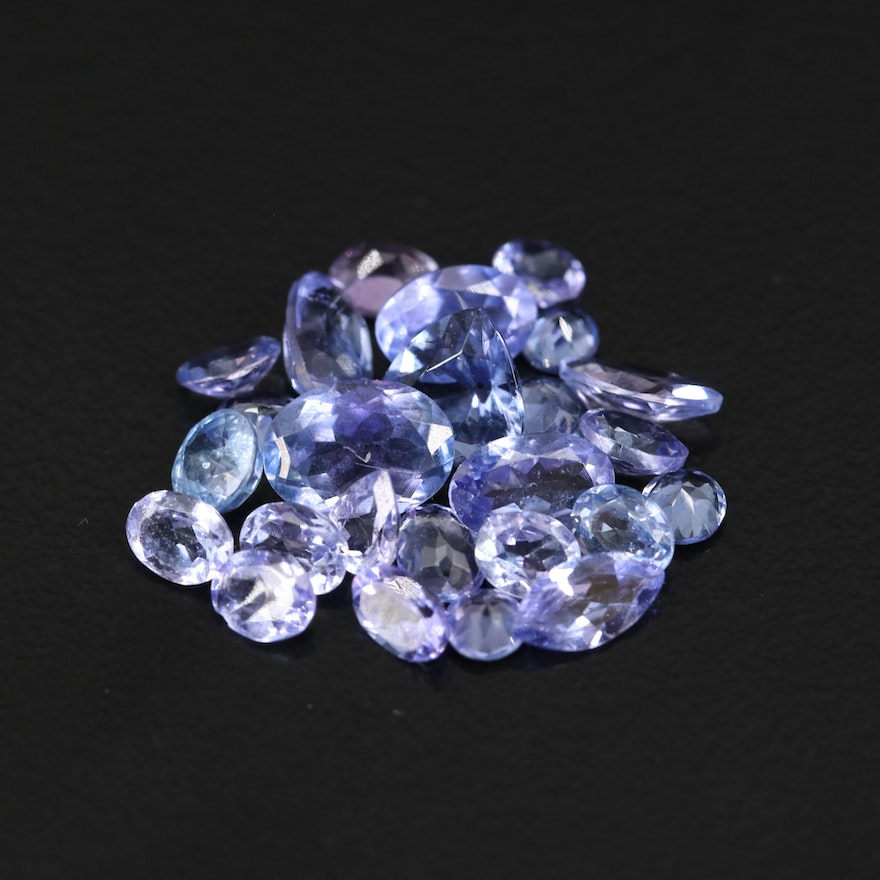 Loose 6.45 CTW Gemstone Selection Featuring Tanzanite, Sapphire and Amethyst